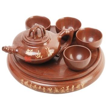 【中国木鱼石经典茶具六件套】报价
