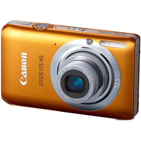 佳能 canon ixus115 hs 数码相机 橙色 2 高清图片